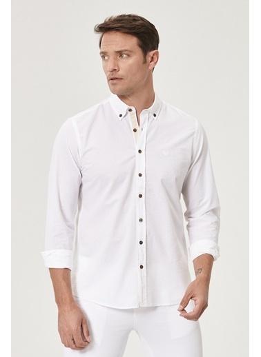 Beymen Business 4B2020200001 Slim Fit Gömlek Gofre Beyaz